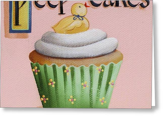 Baby Room Paintings Greeting Cards - Peep Cakes Greeting Card by Catherine Holman