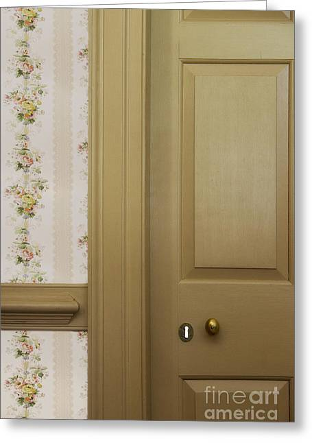 Entrance Door Greeting Cards - Peep Hole Greeting Card by Margie Hurwich