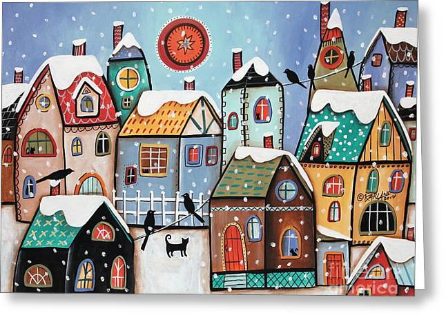 """house Cat"" Greeting Cards - Peering Greeting Card by Karla Gerard"