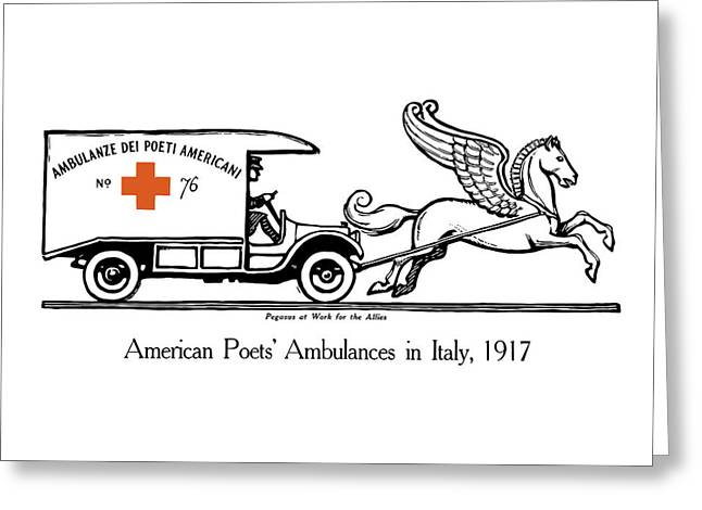 Ambulance Greeting Cards - Pegasus At Work For The Allies Greeting Card by War Is Hell Store
