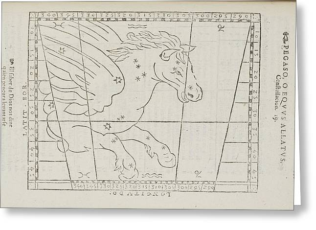 Pegasus Star Constellation Greeting Card by British Library