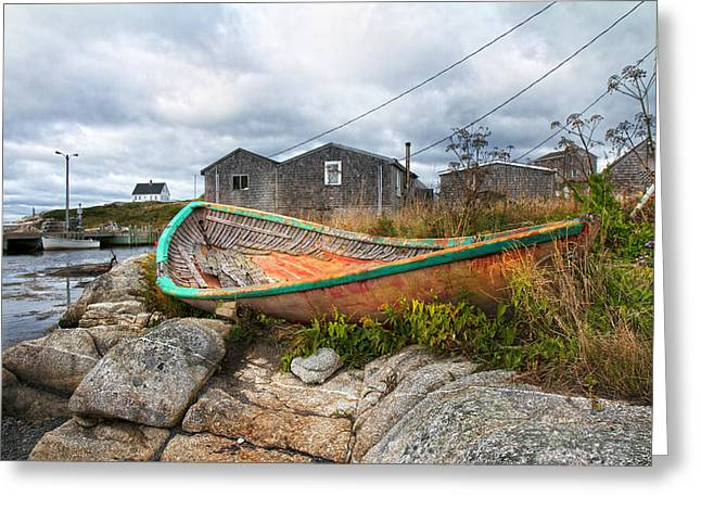 Peggy's Cove 13 Greeting Card by Betsy Knapp
