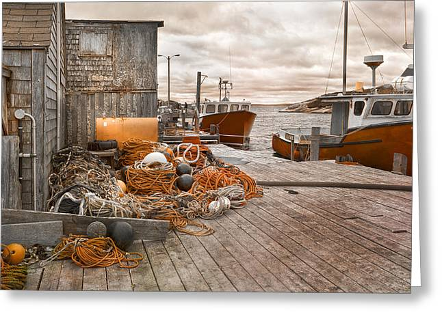 Peggy's Cove 17b Hue Greeting Card by Betsy Knapp
