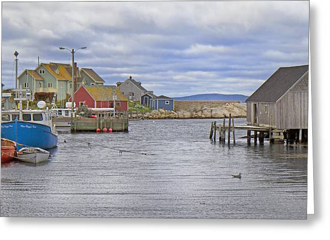 Peggy's Cove 22 Greeting Card by Betsy Knapp