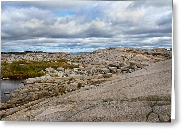 Grey Clouds Greeting Cards - Peggys Cove 24 Greeting Card by Betsy C  Knapp