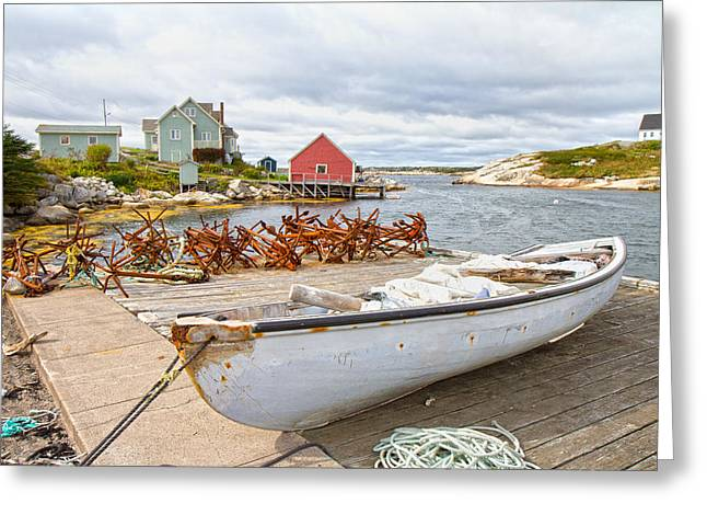 Peggy's Cove 4 Greeting Card by Betsy Knapp