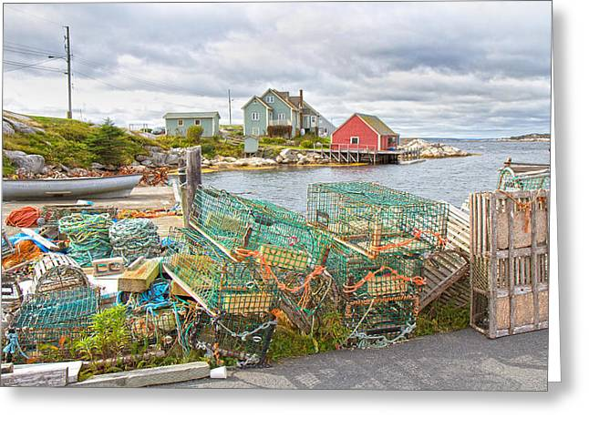 Peggy's Cove 5 Greeting Card by Betsy Knapp