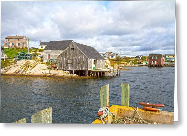 Peggy's Cove 6 Greeting Card by Betsy Knapp