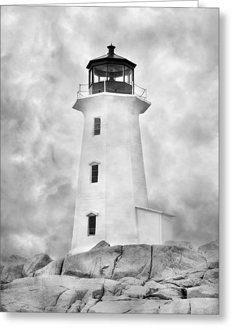 Historical Lighthouse Greeting Cards - Peggys Cove Lighthouse Greeting Card by Betsy C  Knapp