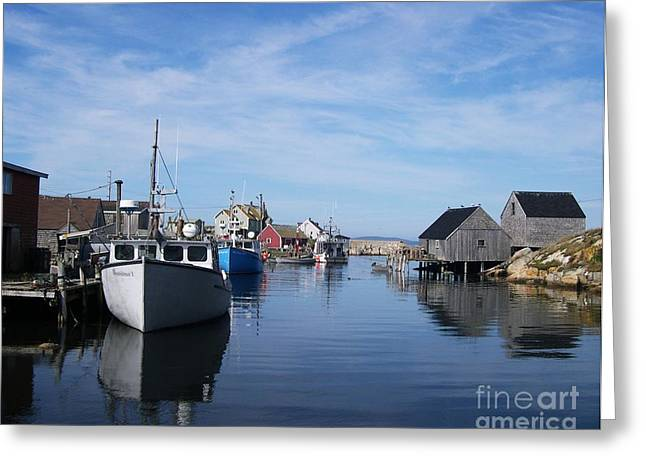 Fishing Village Greeting Cards - Peggys  Cove Greeting Card by Mel Steinhauer