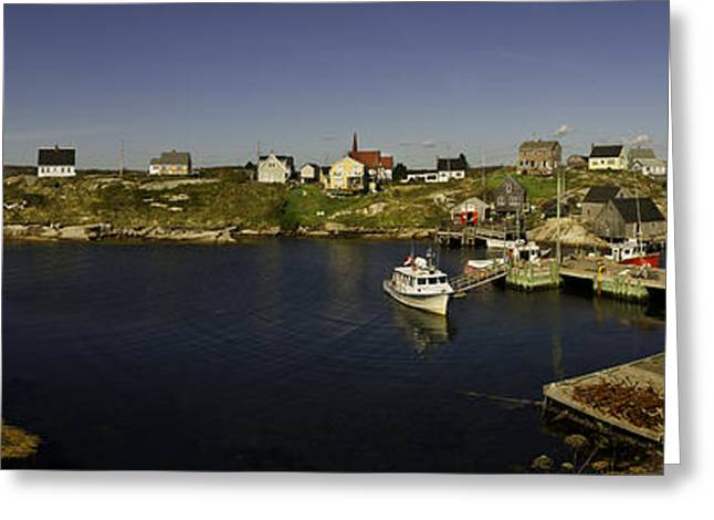 Atlantik Greeting Cards - Peggys Cove NovaScotia Greeting Card by Peter v Quenter