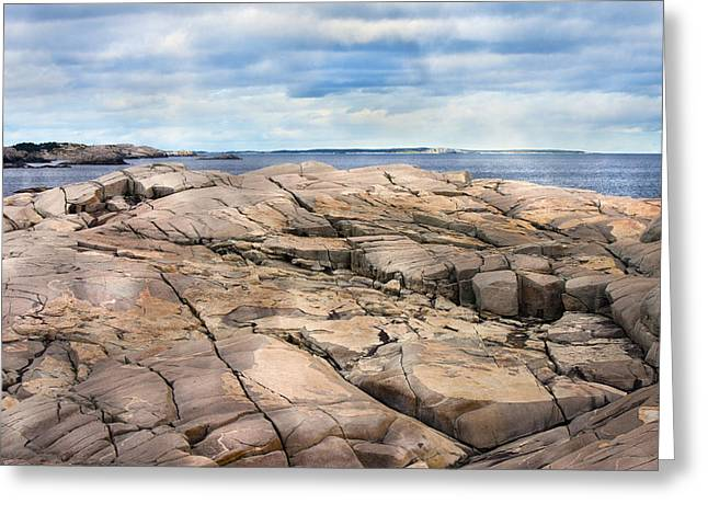 Visitation Greeting Cards - Peggys Rocks Greeting Card by Betsy A  Cutler