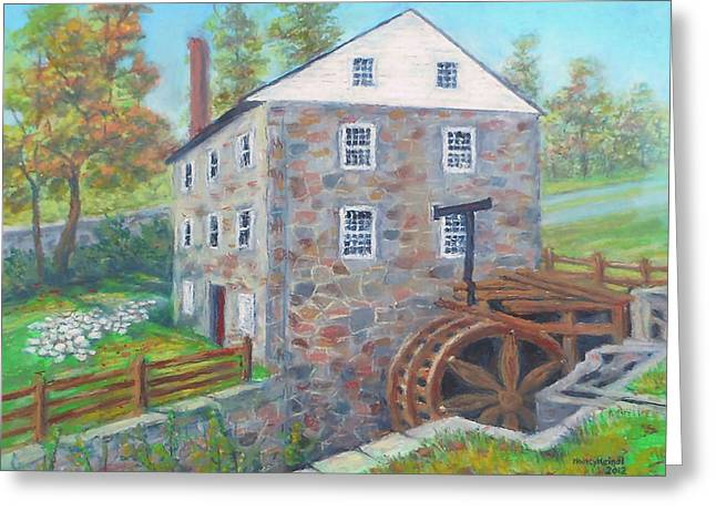 Flour Pastels Greeting Cards - Peirce Mill  Greeting Card by Nancy Heindl
