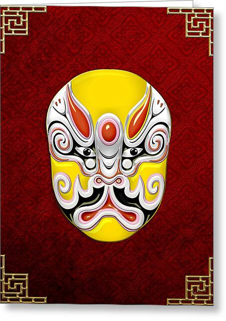 Antique Beijing Greeting Cards - Peking Opera Face-paint Masks - Tuxing Sun Greeting Card by Serge Averbukh