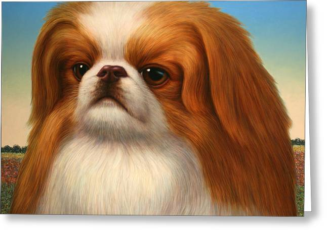 Pekingese Greeting Card by James W Johnson