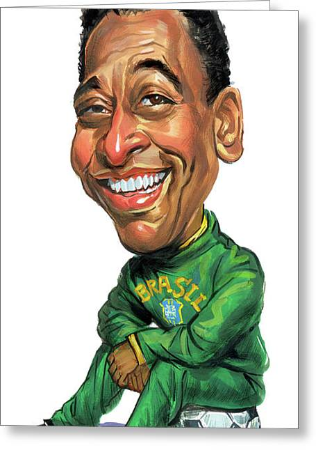 Pele Greeting Card by Art