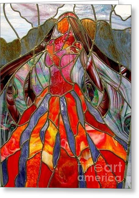 Iridized Greeting Cards - Pele - Goddess of Fire Greeting Card by Marilynn Brandriff
