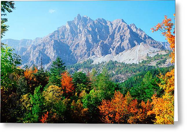 Pelens Needle In Autumn, French Greeting Card by Panoramic Images