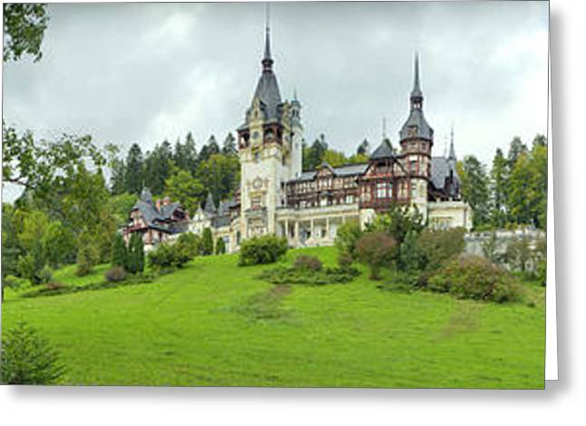 Peles Castle In The Carpathian Greeting Card by Panoramic Images