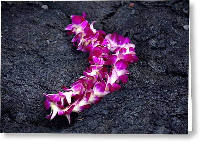 Lei Greeting Cards - Peles Lei Greeting Card by Lori Seaman
