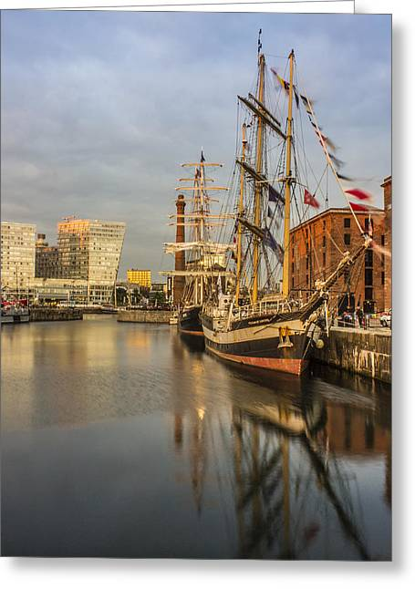 Tall Ships Greeting Cards - Pelican and Mercedes tall ships Greeting Card by Paul Madden
