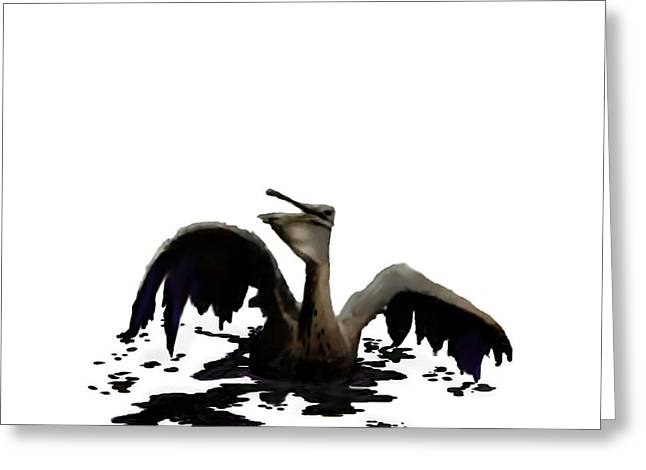 Pen And Ink Realism Greeting Cards - Pelican Grief Greeting Card by Jann Paxton