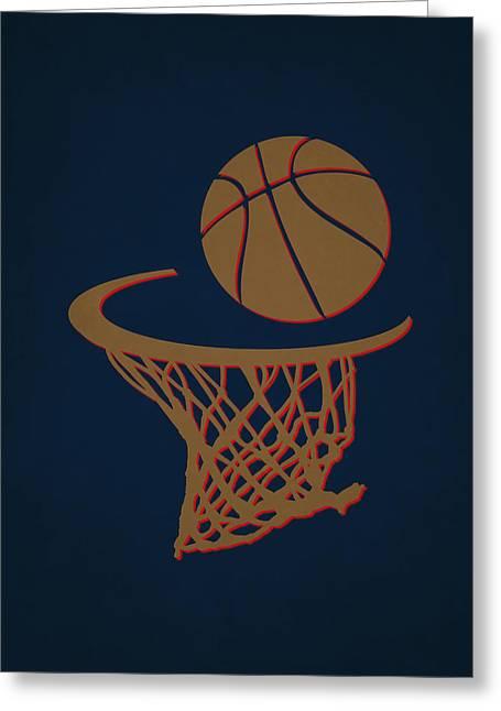 Basket Ball Greeting Cards - Pelicans Team Hoop2 Greeting Card by Joe Hamilton