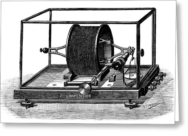 Pellat Electrodynamometer Greeting Card by Science Photo Library