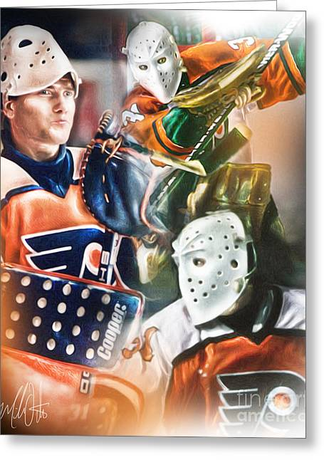 Pelle Lindbergh Greeting Card by Mike Oulton