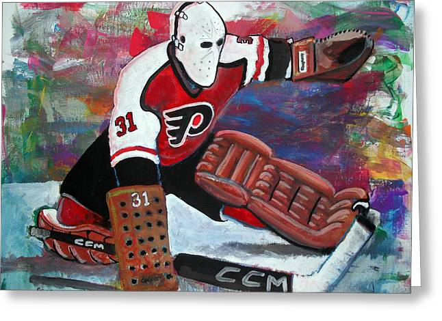 PELLE LINDBERGH Greeting Card by Steve Benton
