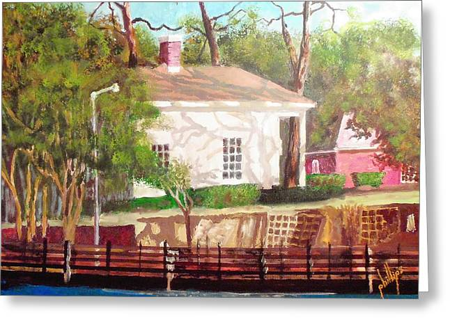 Recently Sold -  - Jacksonville Greeting Cards - Pelleteir House 1850 Greeting Card by Jim Phillips