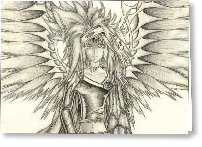 Shawn Dall Greeting Cards - Pelusis God of Law and Order Greeting Card by Shawn Dall
