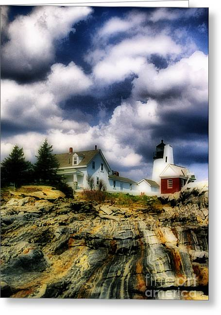 Pemaquid Lighthouse Greeting Cards - Pemaquid Fantasy Greeting Card by Skip Willits