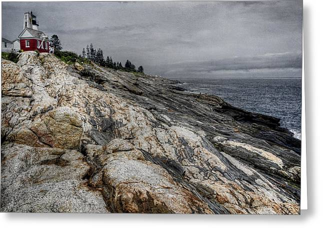 Maine Lighthouses Greeting Cards - Pemaquid Light Greeting Card by Joan Carroll