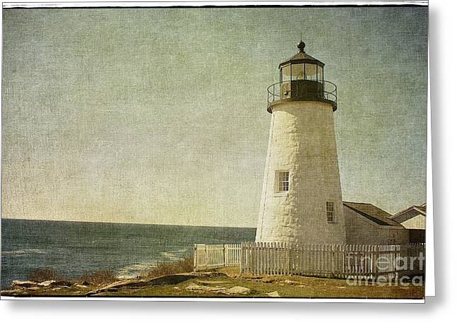 New England Lighthouse Greeting Cards - Pemaquid Lighthouse 2 Greeting Card by Cindi Ressler