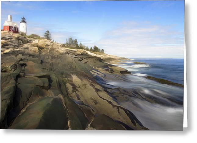 Persuade Greeting Cards - Pemaquid Lighthouse 7 Greeting Card by Patsy Zedar