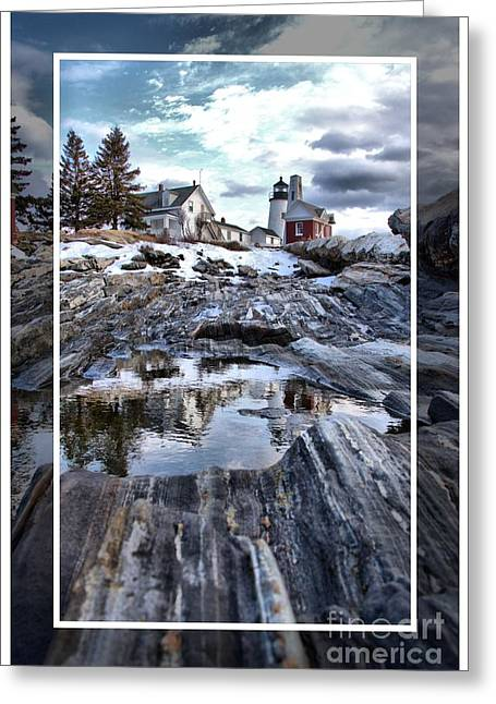 Winter In Maine Greeting Cards - Pemaquid Lighthouse Greeting Card by Victoria  Dauphinee