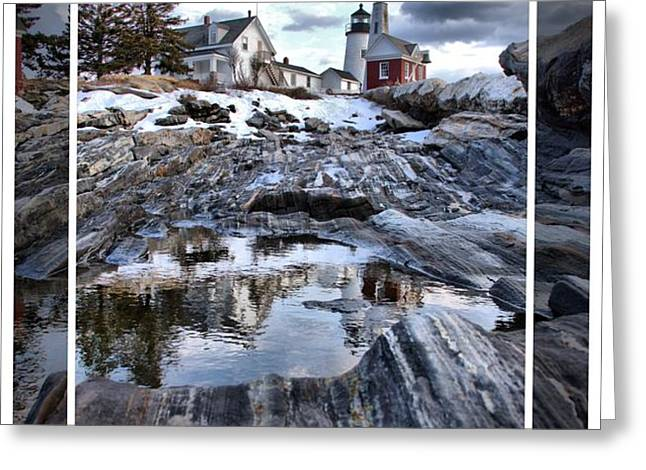 Pemaquid Lighthouse Greeting Card by Victoria  Dauphinee