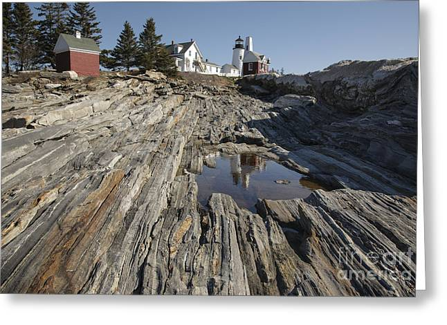 Coastal Maine Greeting Cards - Pemaquid Point Light - Bristol Maine Greeting Card by Erin Paul Donovan