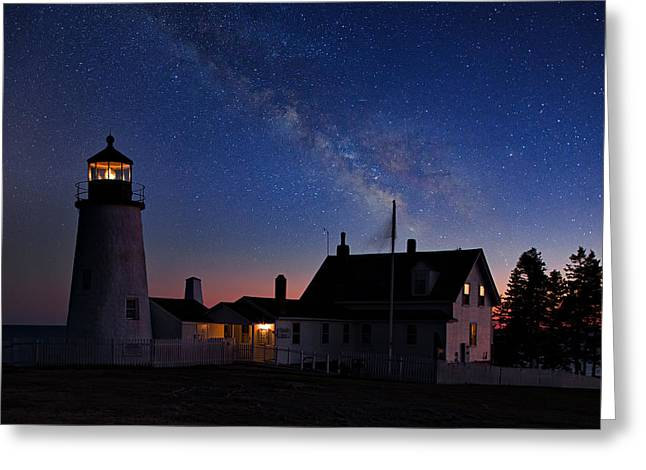Pemaquid Lighthouse Greeting Cards - Pemaquid Point Light Greeting Card by Emmanuel Panagiotakis
