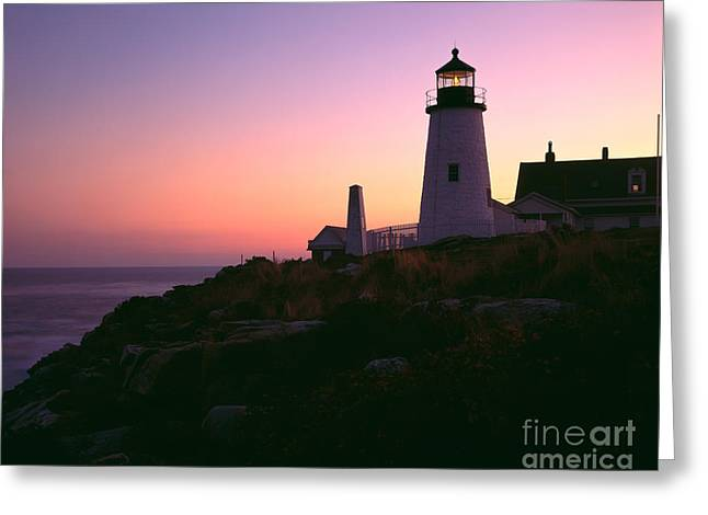 Maine Lighthouses Greeting Cards - Pemaquid Point Light Greeting Card by Rafael Macia
