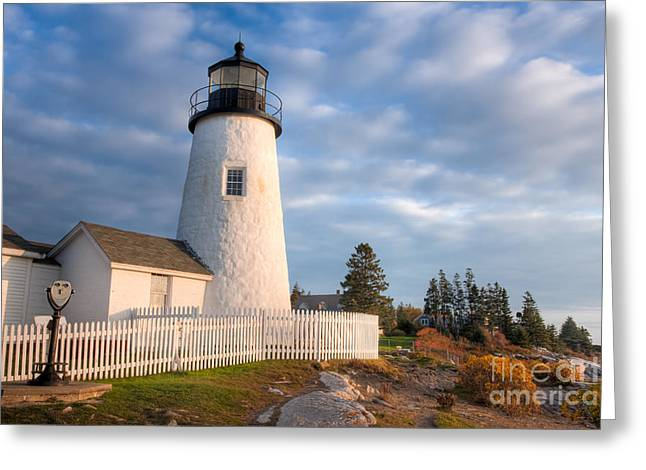 U.s. Coins Greeting Cards - Pemaquid Point Light V Greeting Card by Clarence Holmes