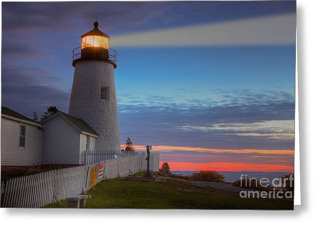 U.s. Coins Greeting Cards - Pemaquid Point Light VIII Greeting Card by Clarence Holmes
