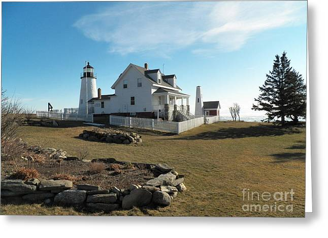 Cape Neddick Greeting Cards - Pemaquid Point Lighthouse 10 Greeting Card by Joseph Marquis