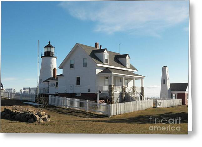 Cape Neddick Lighthouse Greeting Cards - Pemaquid Point Lighthouse 12 Greeting Card by Joseph Marquis