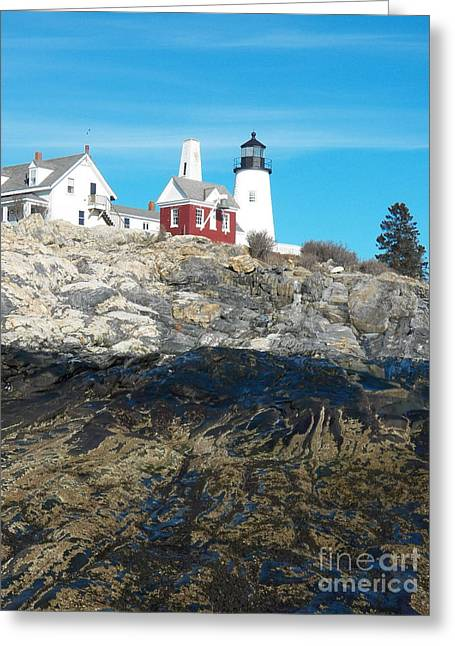 Cape Neddick Lighthouse Greeting Cards - Pemaquid Point Lighthouse 9 Greeting Card by Joseph Marquis