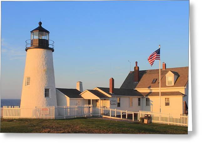 Maine Lighthouses Photographs Greeting Cards - Pemaquid Point Lighthouse Maine Greeting Card by John Burk