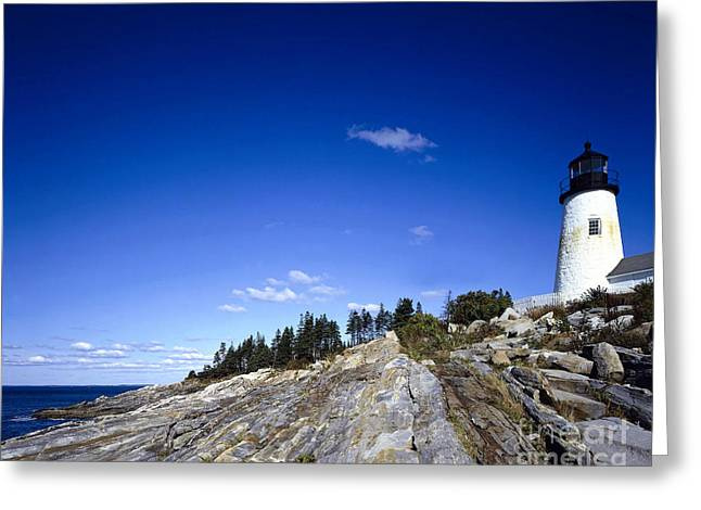 Pemaquid Lighthouse Greeting Cards - Pemaquid Point Lighthouse, Maine Greeting Card by Rafael Macia