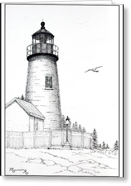Pemaquid Point Lighthouse Greeting Card by Mariarosa Rockefeller