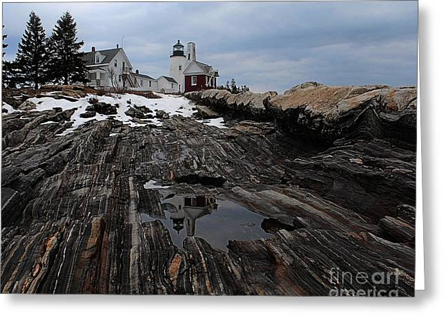 Cape Neddick Greeting Cards - Pemaquid Point Reflections Greeting Card by Joseph Marquis